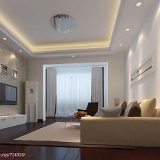 热门79平米二居客厅现代实景图片