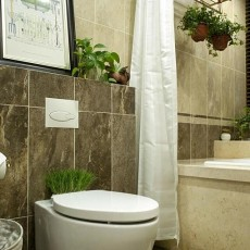热门美式别墅卫生间设计效果图