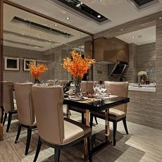 现代样板房餐厅吊顶装修效果图大全2017图片