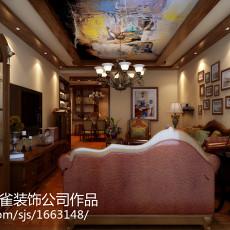 精美94平米三居客厅美式实景图片大全