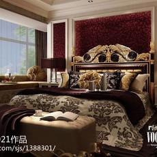 精美127平米欧式别墅卧室装修欣赏图片大全