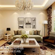 79平方二居客厅现代装饰图片