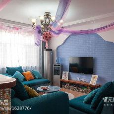 精美三居客厅地中海装修效果图片大全