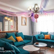 热门96平米三居客厅地中海装修图片欣赏