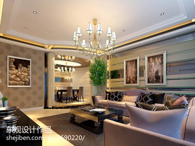 热门面积100平欧式三居客厅装修图