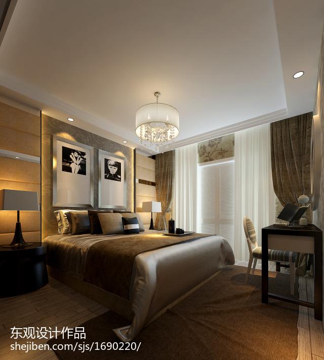 热门面积100平欧式三居卧室效果图片欣赏