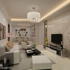 面积108平现代三居客厅装修设计效果图片大全