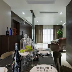 热门96平米三居餐厅现代装修图片