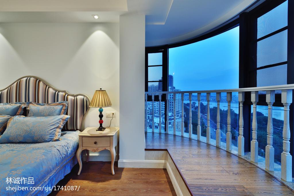 热门104平米三居卧室美式装修设计效果图片