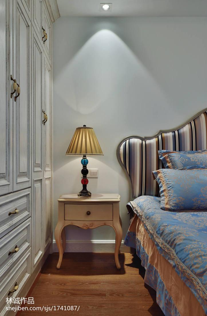 热门93平米三居卧室美式装修设计效果图