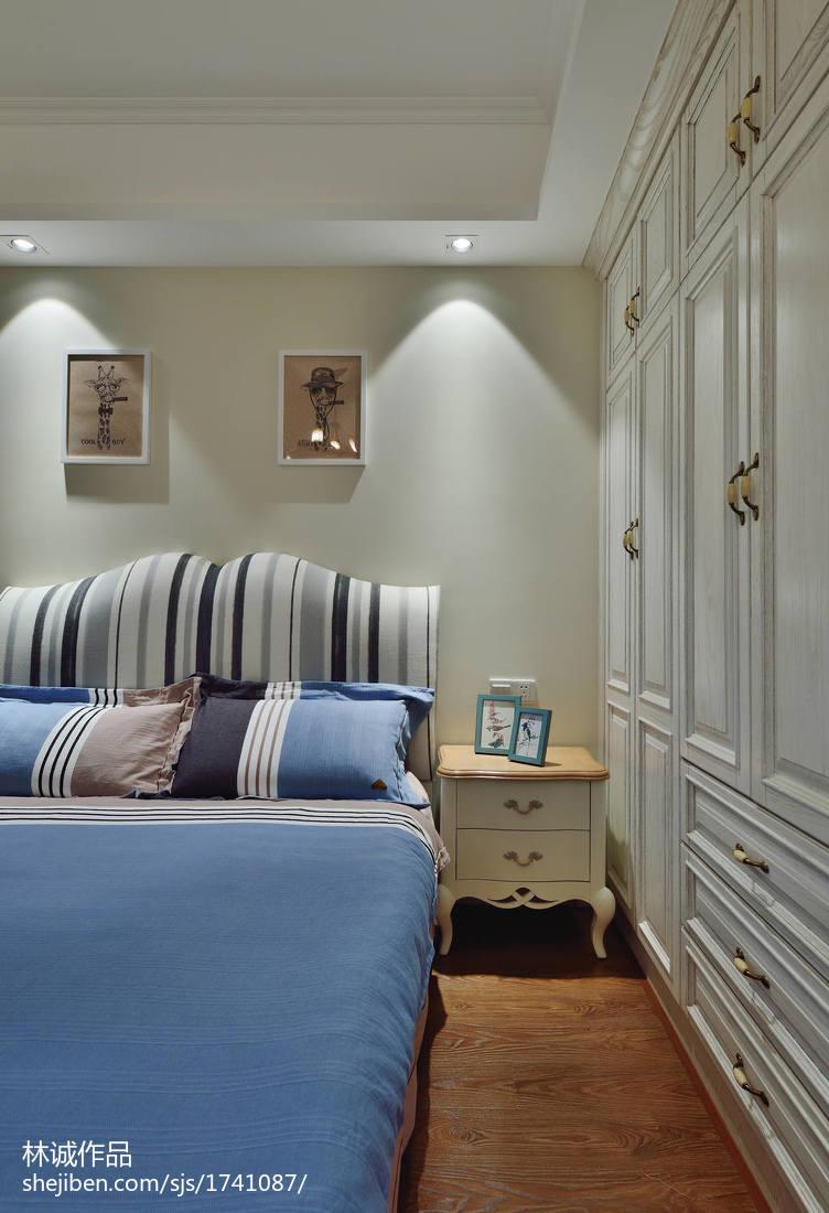 热门104平米三居卧室美式欣赏图