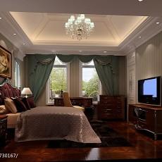 精美面积111平别墅卧室欧式装饰图