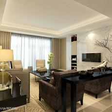 精选大小99平现代三居客厅装修欣赏图片