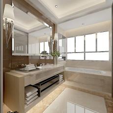 精美面积108平现代三居卫生间装修效果图片大全