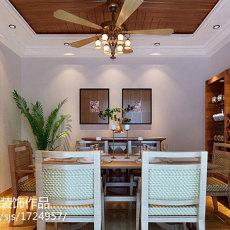精选面积75平美式二居餐厅设计效果图
