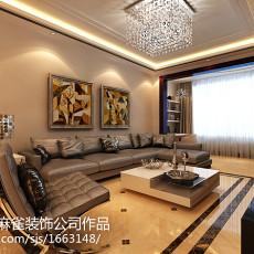 201883平米二居客厅现代装修效果图片