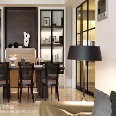 热门面积115平欧式四居餐厅实景图