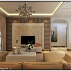大小104平现代三居客厅装饰图