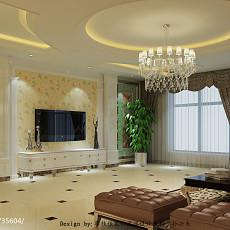 热门面积125平欧式四居客厅装修实景图片