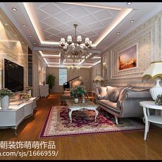 精选面积128平别墅客厅欧式装修欣赏图片