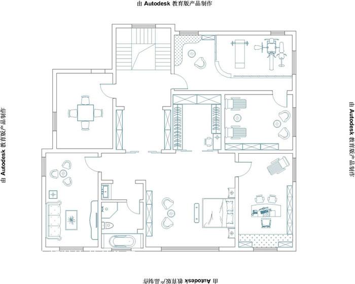 2018144平方欧式别墅休闲区欣赏图