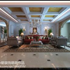 大小117平别墅客厅欧式设计效果图