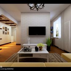大小74平现代二居客厅装修效果图片欣赏