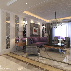 2018104平方三居客厅现代效果图