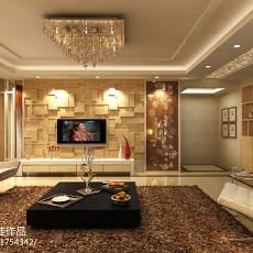 精美123平米现代别墅客厅实景图片