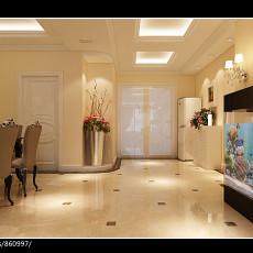 2018精选面积106平欧式三居客厅装修效果图