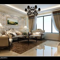 99平方三居客厅欧式效果图片欣赏