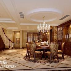 精选144平米美式复式餐厅装饰图片欣赏