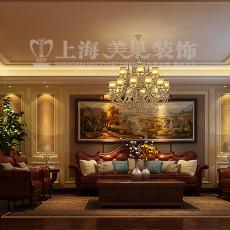 2018143平米四居客厅美式装修欣赏图片大全