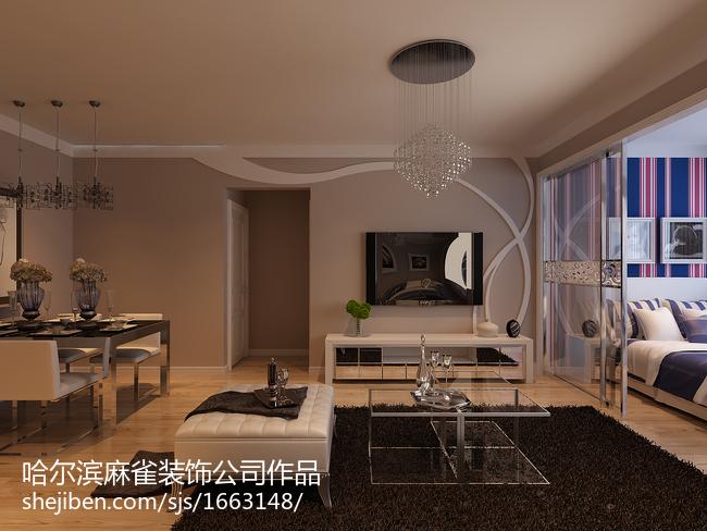 201870平米现代小户型客厅装修欣赏图