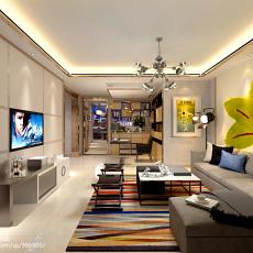 热门91平方三居客厅现代装修实景图