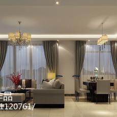 2018104平方三居客厅现代装修欣赏图片