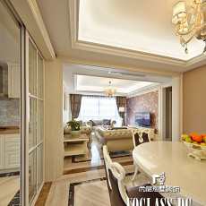 精美131平米四居餐厅欧式实景图片