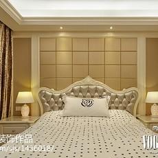 热门面积115平欧式四居卧室欣赏图片
