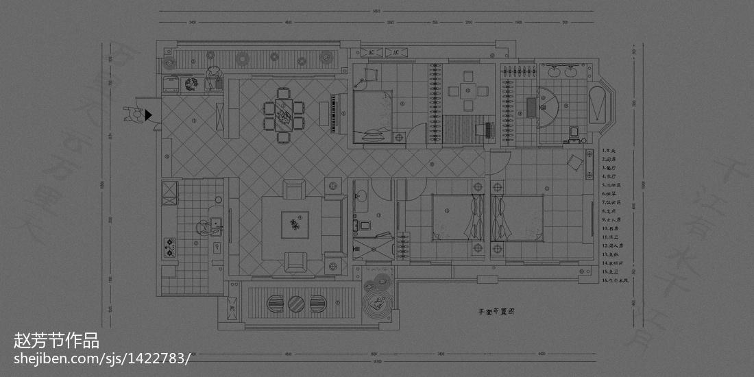 质感现代化卧室设计效果图