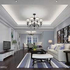 精美面积105平美式三居客厅装修效果图