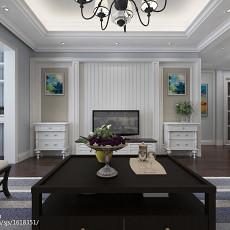 201894平米三居客厅美式装修图片欣赏