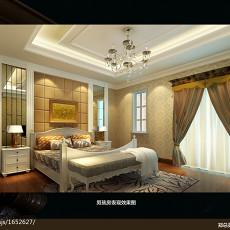精美124平米欧式别墅卧室装修实景图