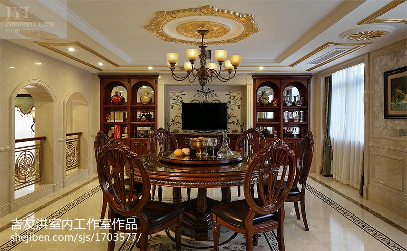 豪宅设计美式风格餐厅装修效果图欣赏