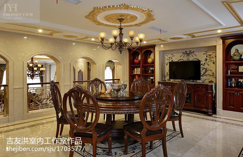 热门127平米美式别墅餐厅装修实景图片欣赏