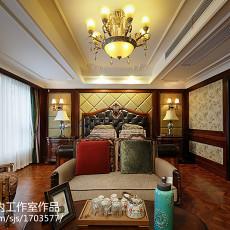 热门111平米美式别墅卧室欣赏图