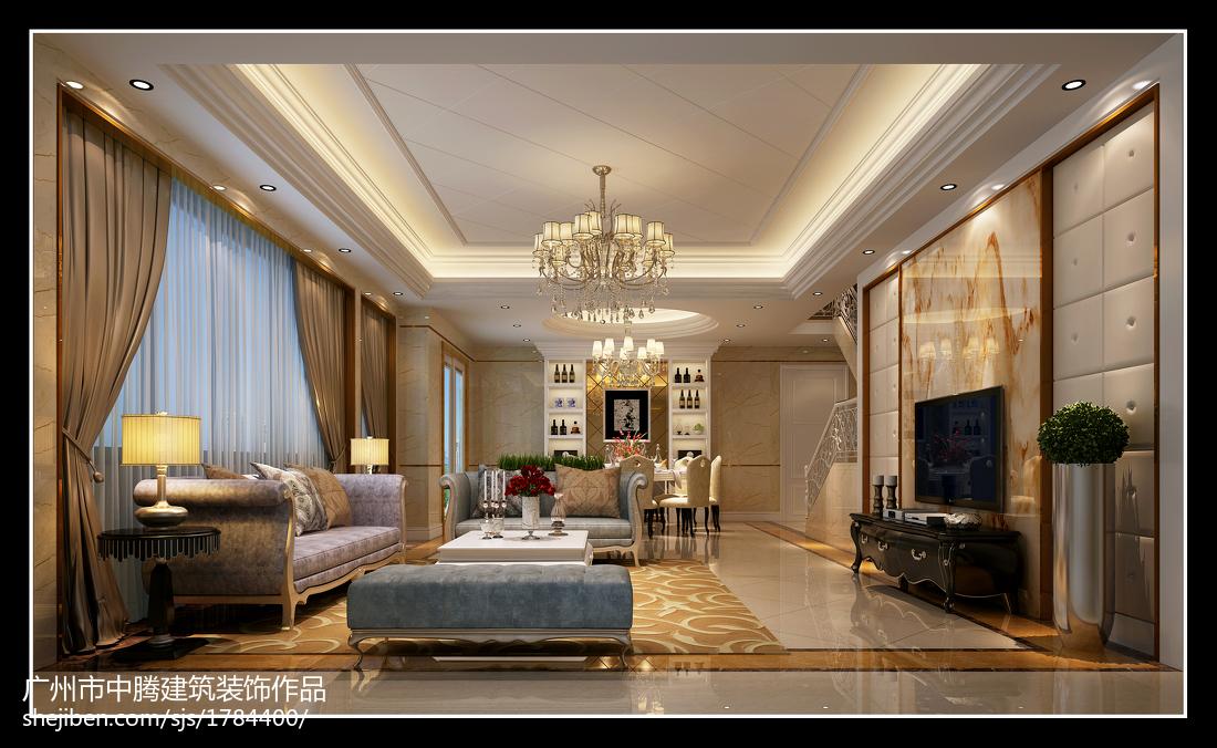 现代简约客厅室内装修设计效果图片