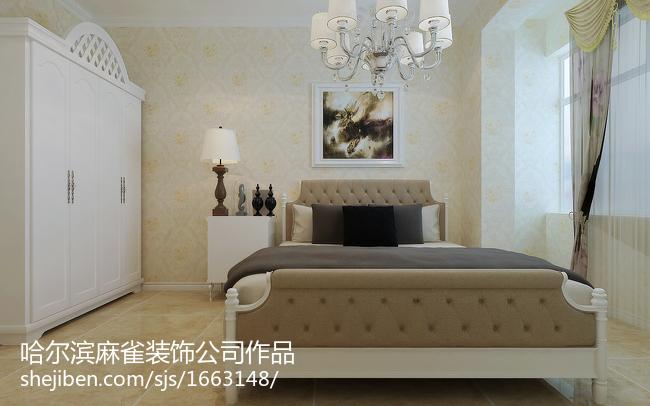 精选87平米二居卧室欧式效果图片