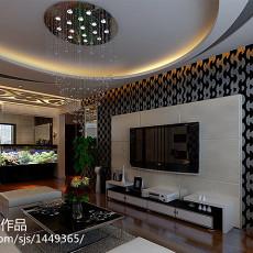 90平米二居客厅现代装饰图