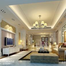 精美面积90平欧式三居客厅装修欣赏图