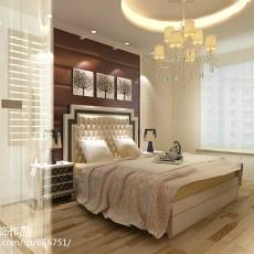 精美面积130平欧式四居卧室装修欣赏图片
